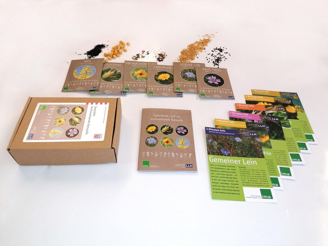Das Saatpaket Nachwachsende Rohstoffe für Schulgarten und Hochbeet